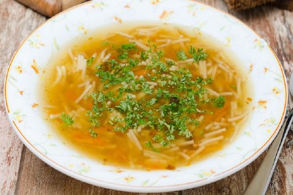 Куриный суп с вермишелью в мультиварки