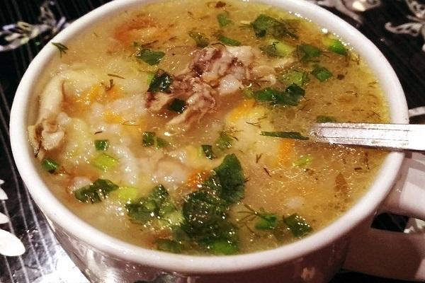 Суп с курицей и имбирем
