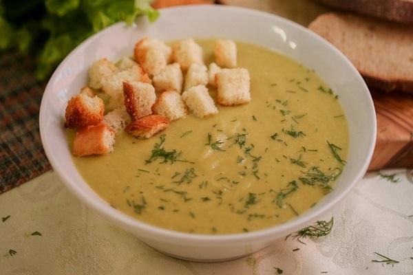 Суп сливочный с печенью