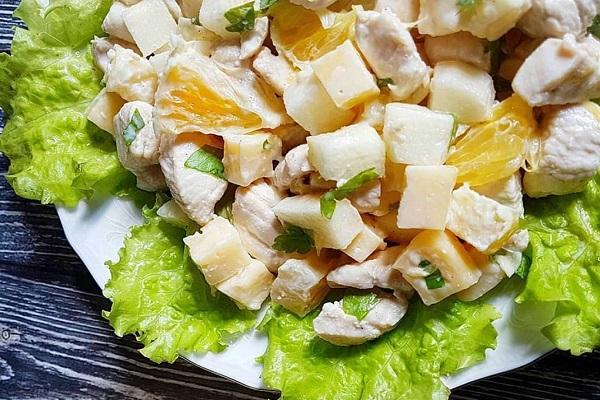 Салат из мяса птицы с апельсином