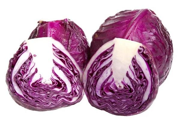 Салат из краснокочанной капусты с чесноком